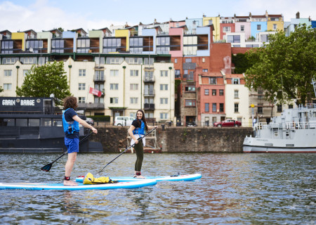 Social Paddleboarding in the Harbour - Bristol - Open age range